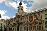 Real Casa de Correos, hoy sede del gobierno de la Comunidad.