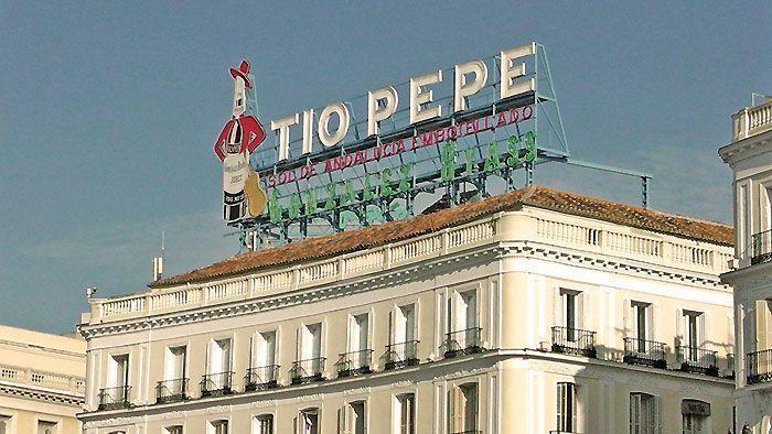 Símbolo publicitario Tío Pepe, Puerta del Sol