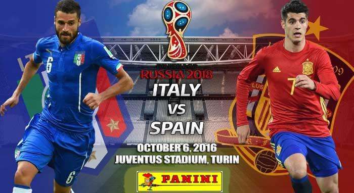 España-Italia Clasificación Mundial 2018