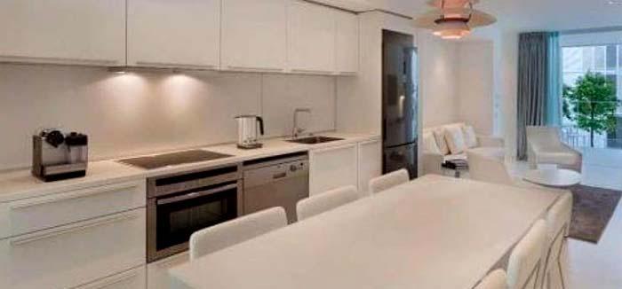 Cocina propia en apartamento vacacionales