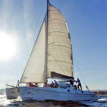 Catamarán competición equipo Barcelona