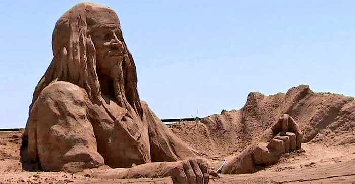 Estatuas de arena Playa de Marbella