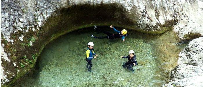 Barrancos en el río Sella