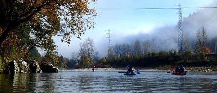 Paso por Ricao en el Descenso del río Sella