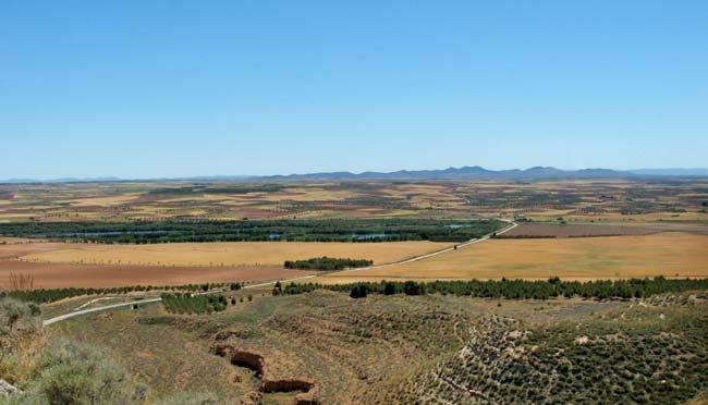 Vistas de la vega Castillo de Monreal
