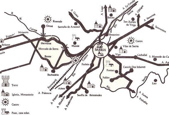 Mapa patrimonio Sarria