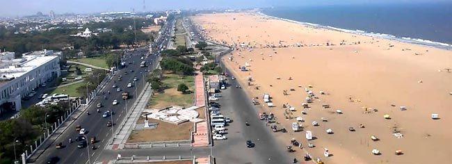 Marina beach en Chinnai