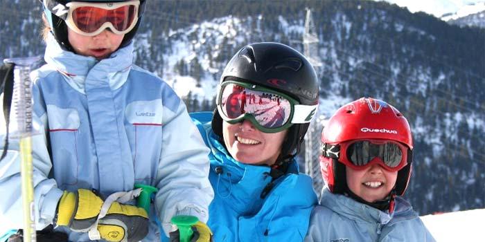 Clases de esquí para familias