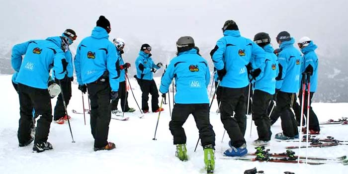 Cursos de esquí para grupos