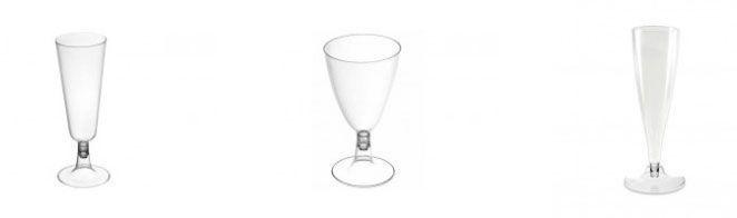 Copas, vasos y plástico