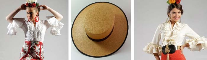 Sombreros trajes flamenca